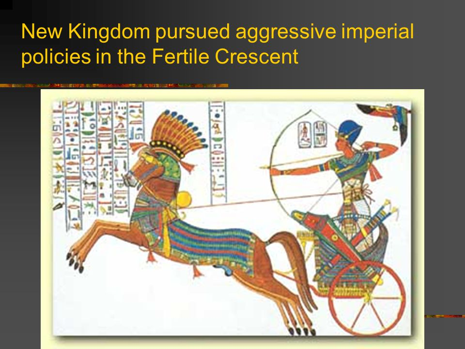 New Kingdom pursued aggressive imperial policies in the Fertile Crescent