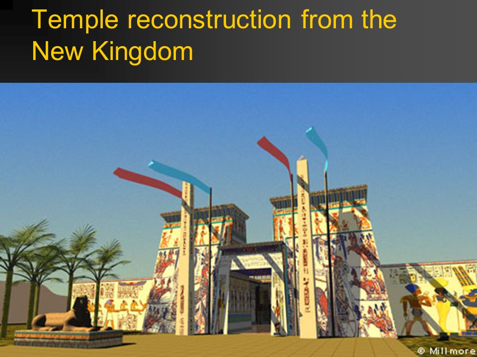 Temple reconstruction from the New Kingdom
