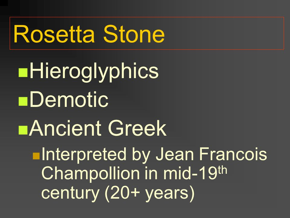Rosetta Stone Hieroglyphics Demotic Ancient Greek