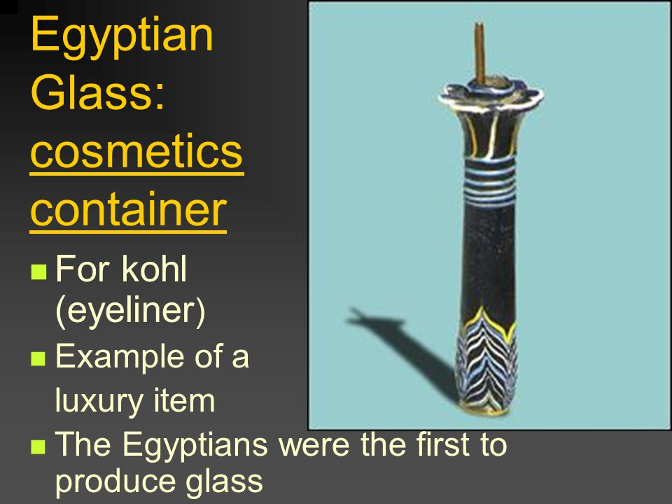 Egyptian Glass: cosmetics container