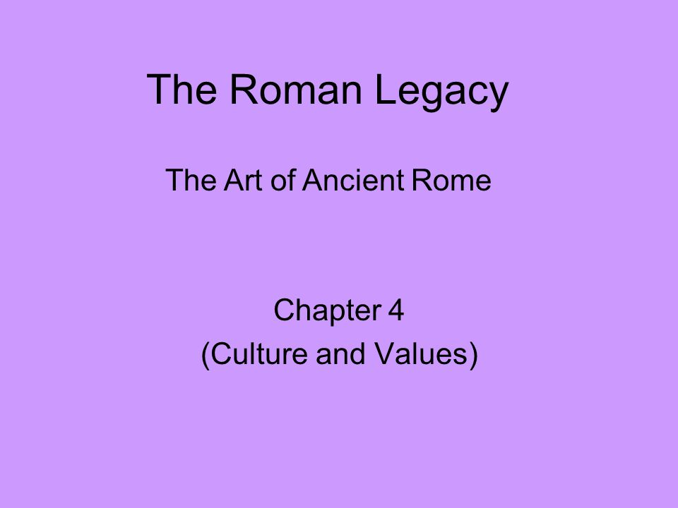 roman cultural values essay Read and learn for free about the following article: christianity in the roman empire.
