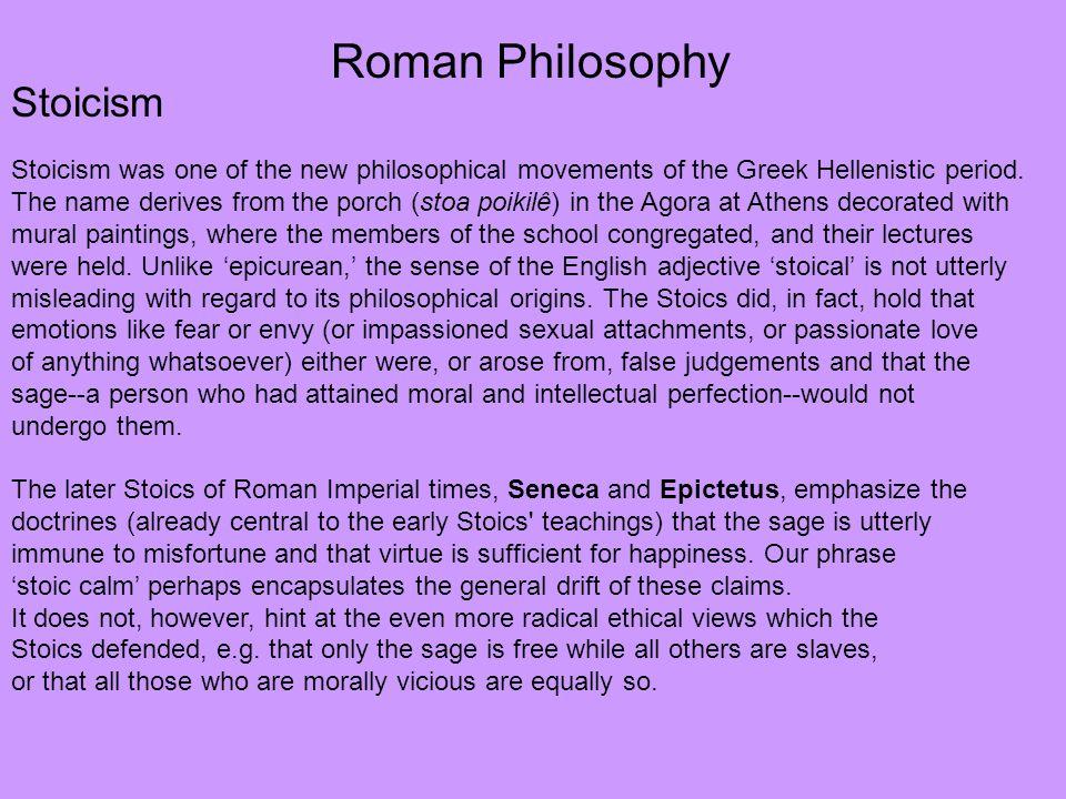 Roman Philosophy Stoicism