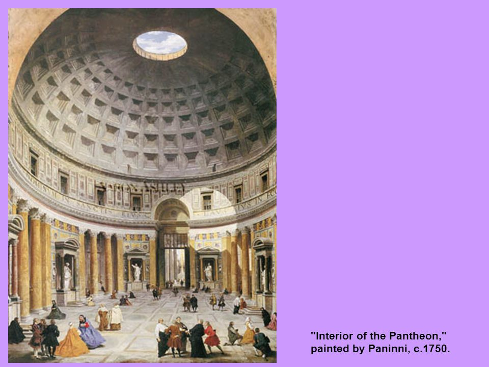 Interior of the Pantheon,