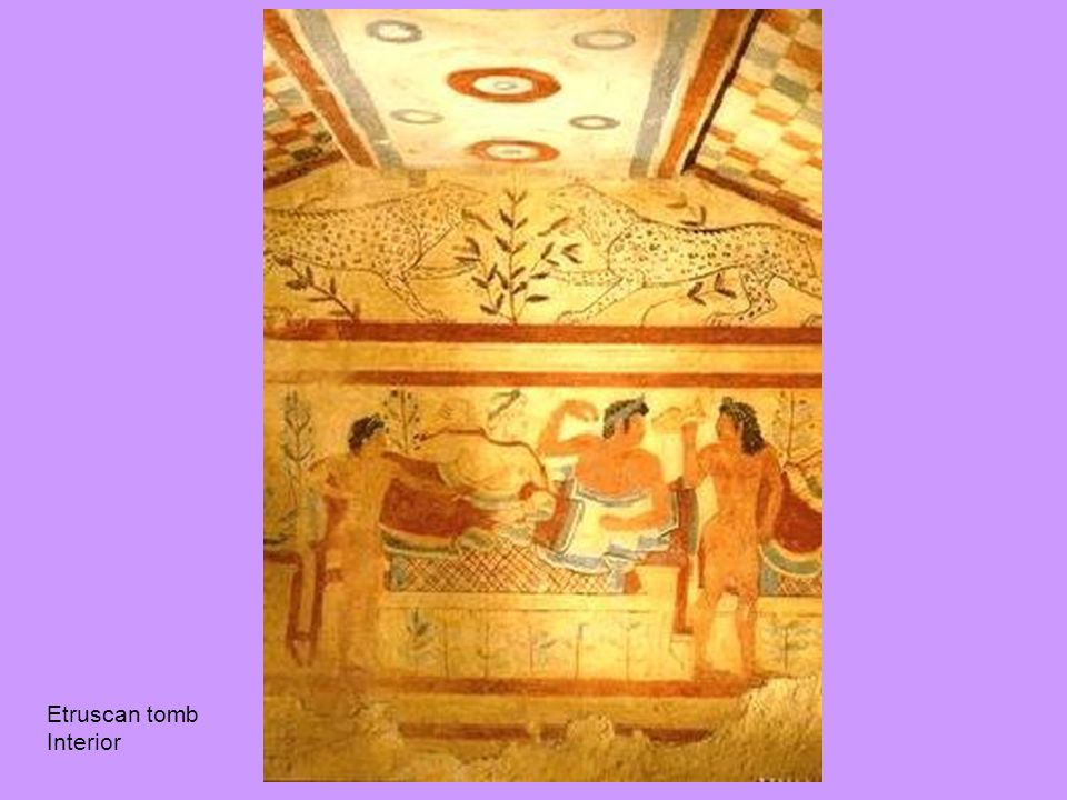 Etruscan tomb Interior