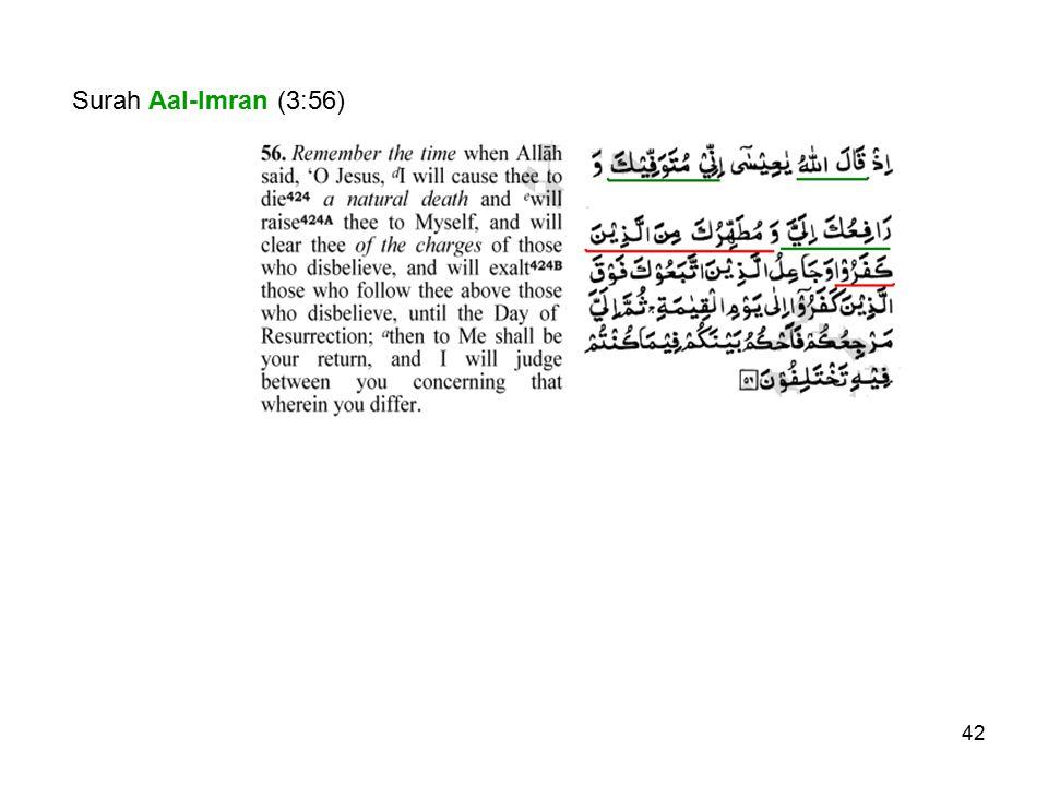 Surah Aal-Imran (3:56)