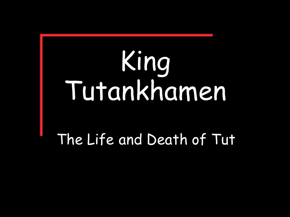 The Life and Death of Tut