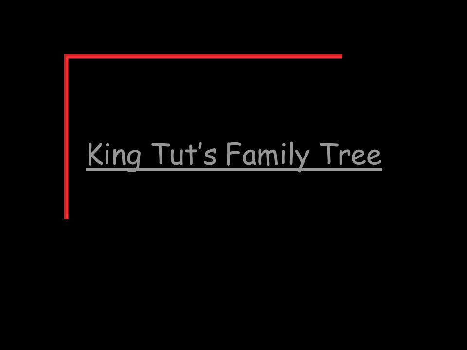 King Tut's Family Tree