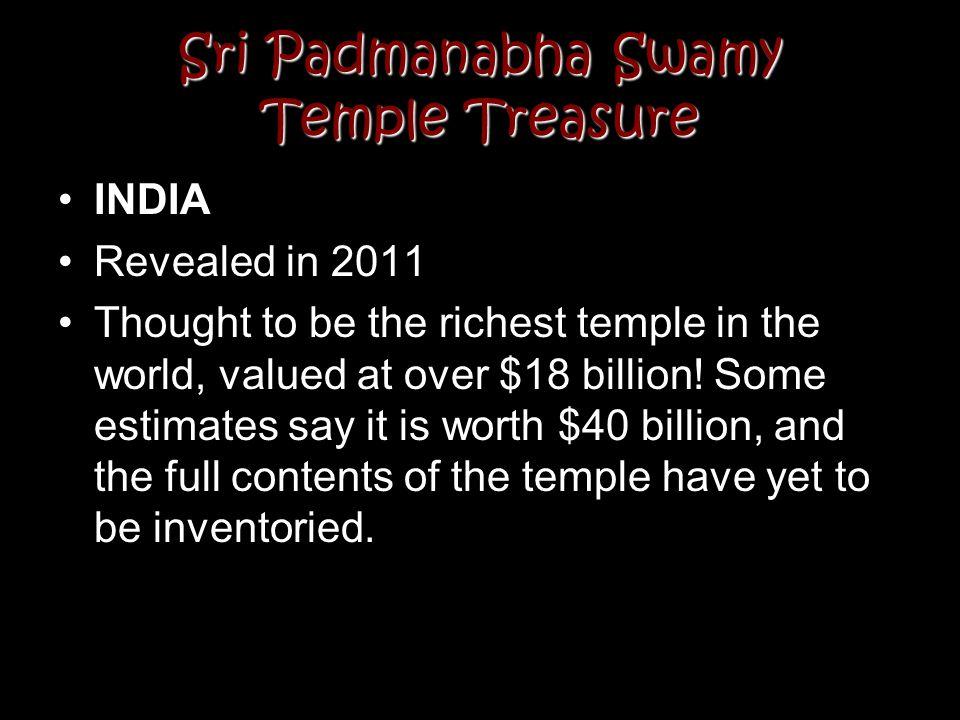 Sri Padmanabha Swamy Temple Treasure