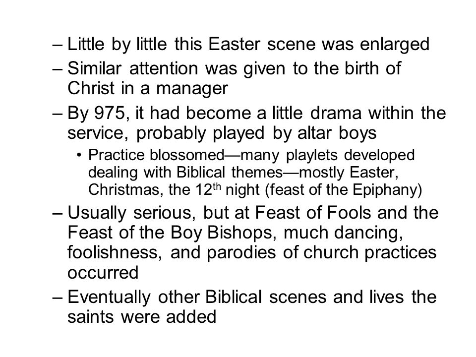 Little by little this Easter scene was enlarged