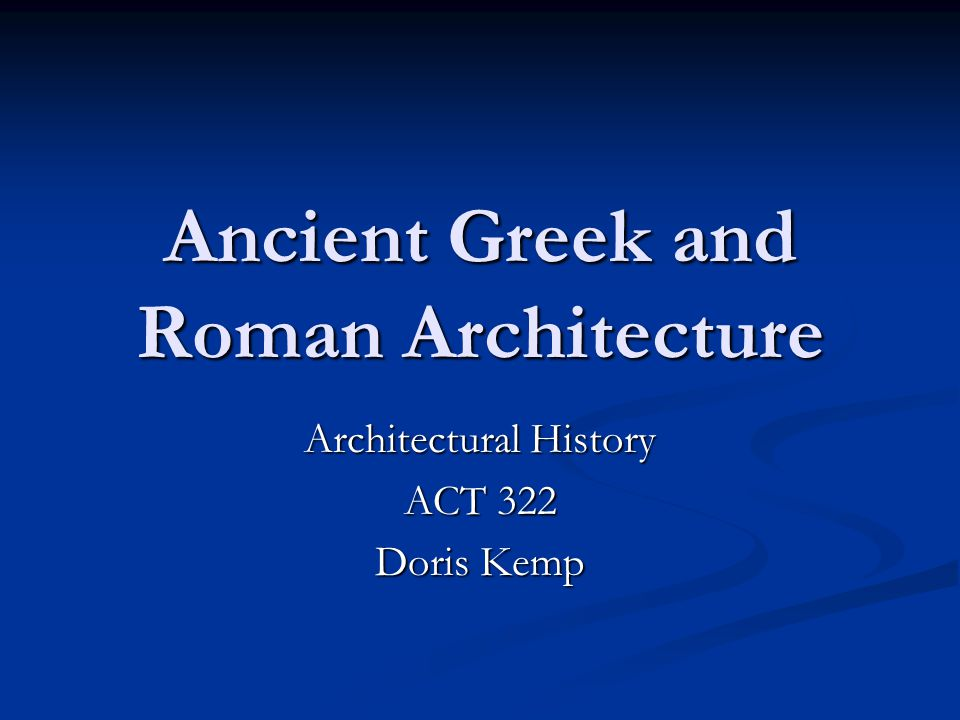 an analysis of roman to greek The pantheon (latin: pantheum) roman architecture continued the legacy left by the earlier architects of the greek world, and the roman respect for.