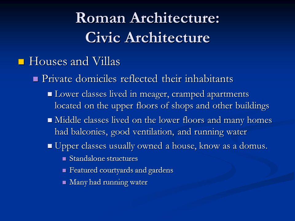Roman Architecture: Civic Architecture