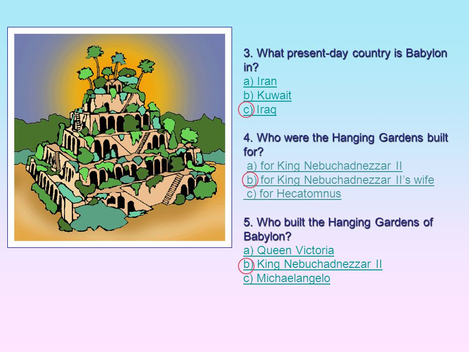 3. What present-day country is Babylon in