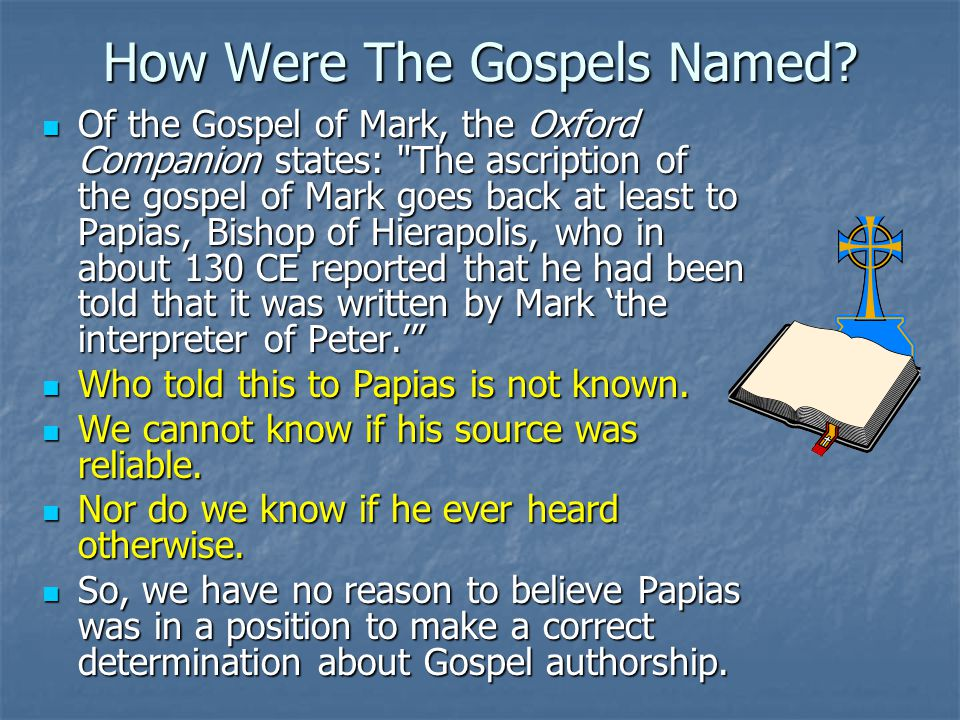 How Were The Gospels Named