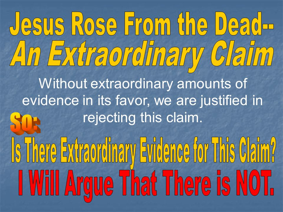 Jesus Rose From the Dead--