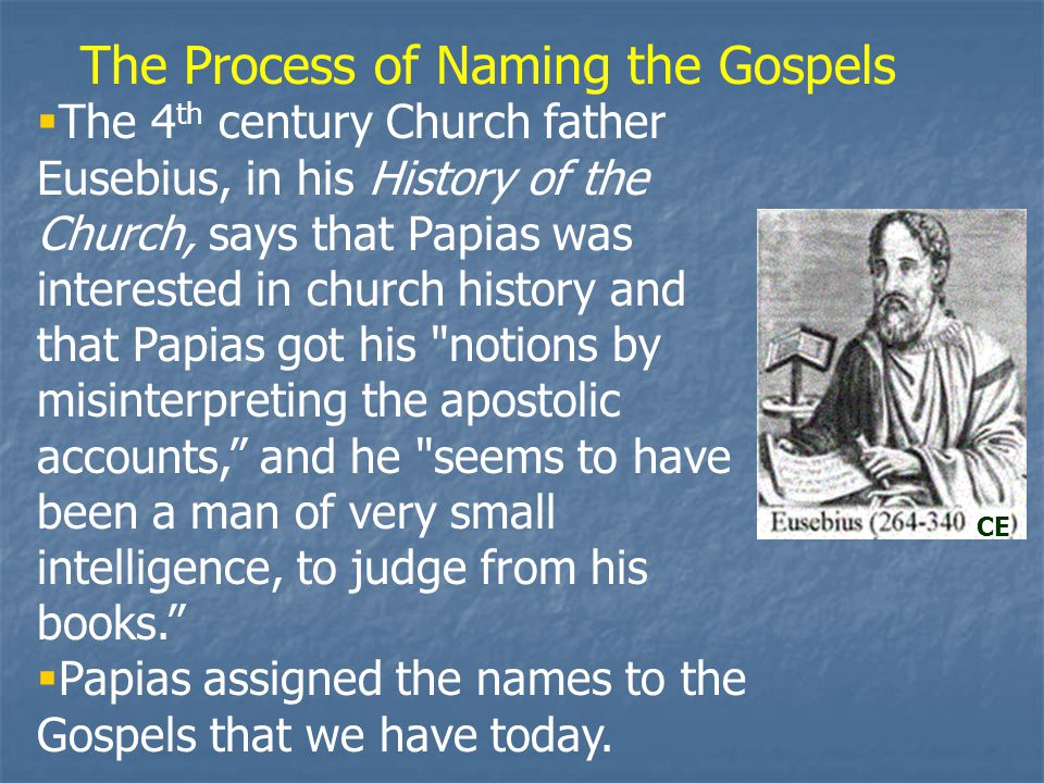 The Process of Naming the Gospels