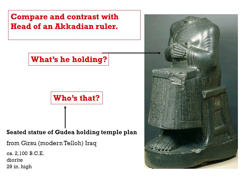 Compare and contrast with Head of an Akkadian ruler.