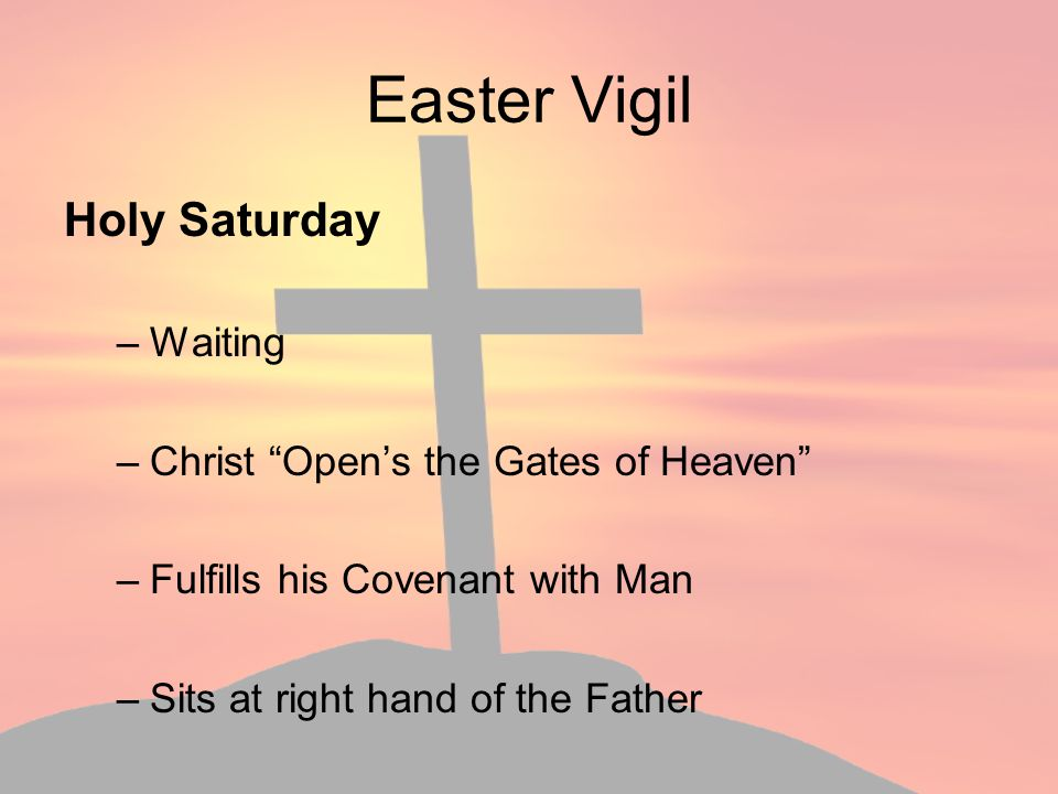 Easter Vigil Holy Saturday Waiting Christ Open's the Gates of Heaven