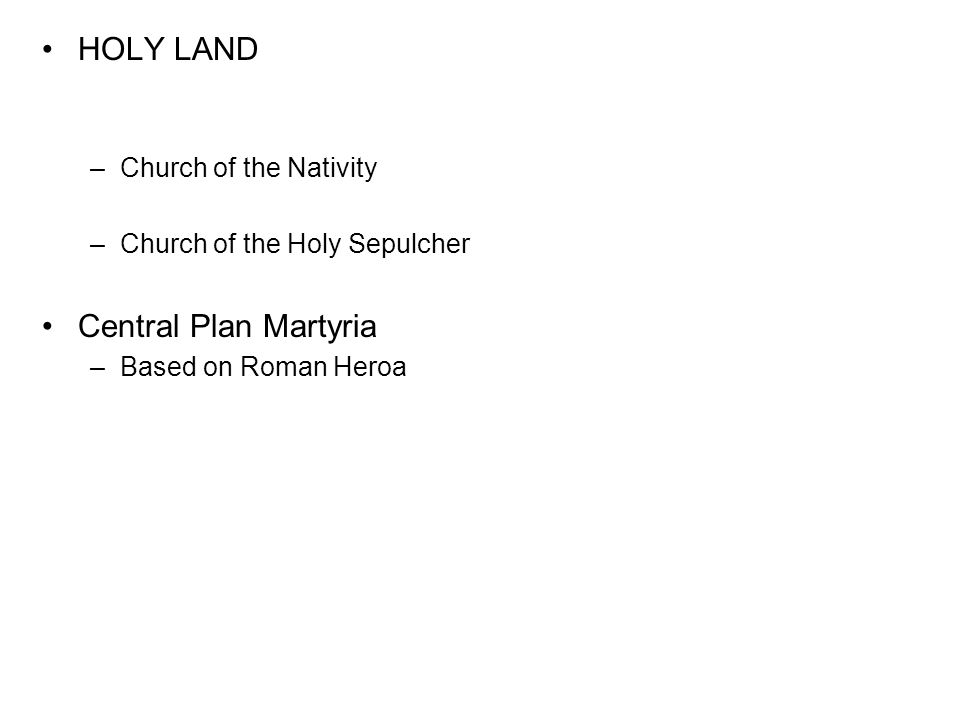 HOLY LAND Central Plan Martyria Church of the Nativity