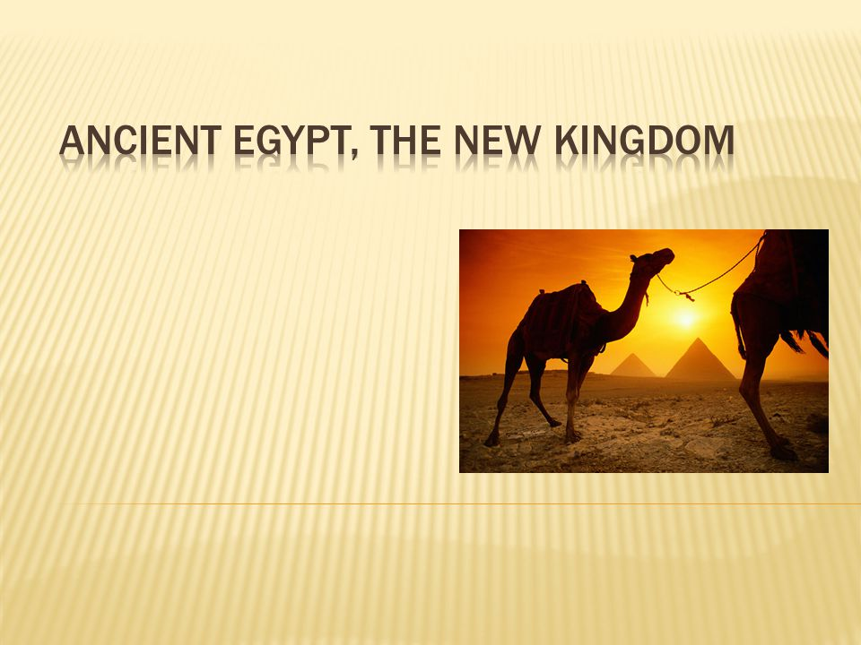 Ancient Egypt, The New Kingdom