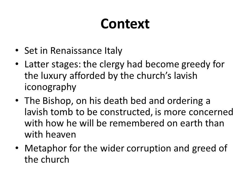Context Set in Renaissance Italy