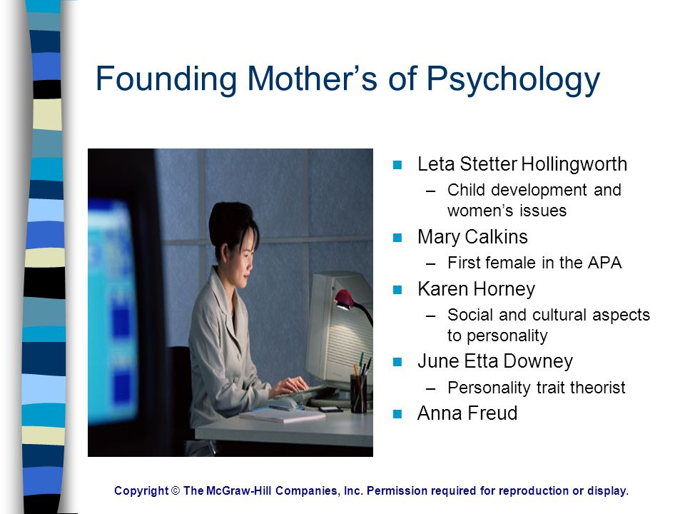 Founding Mother's of Psychology