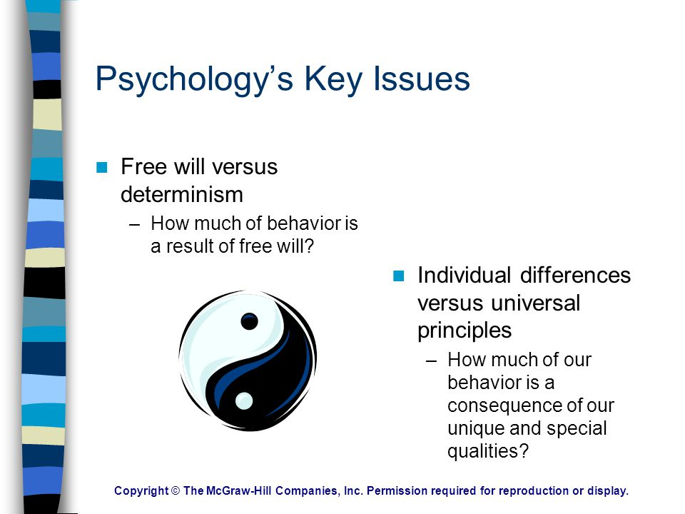 Psychology's Key Issues