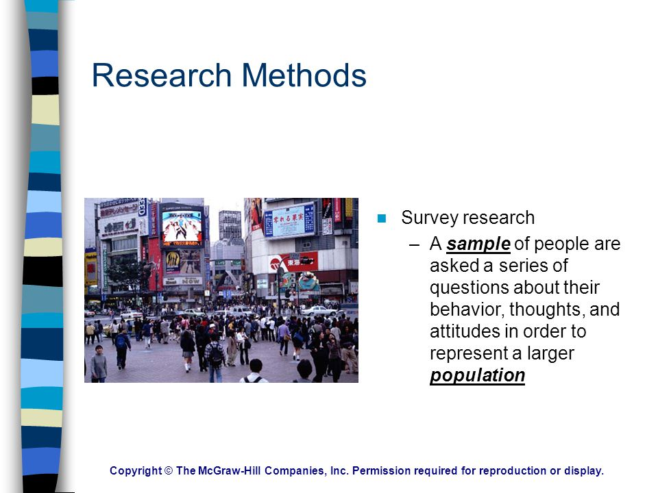 Research Methods Survey research