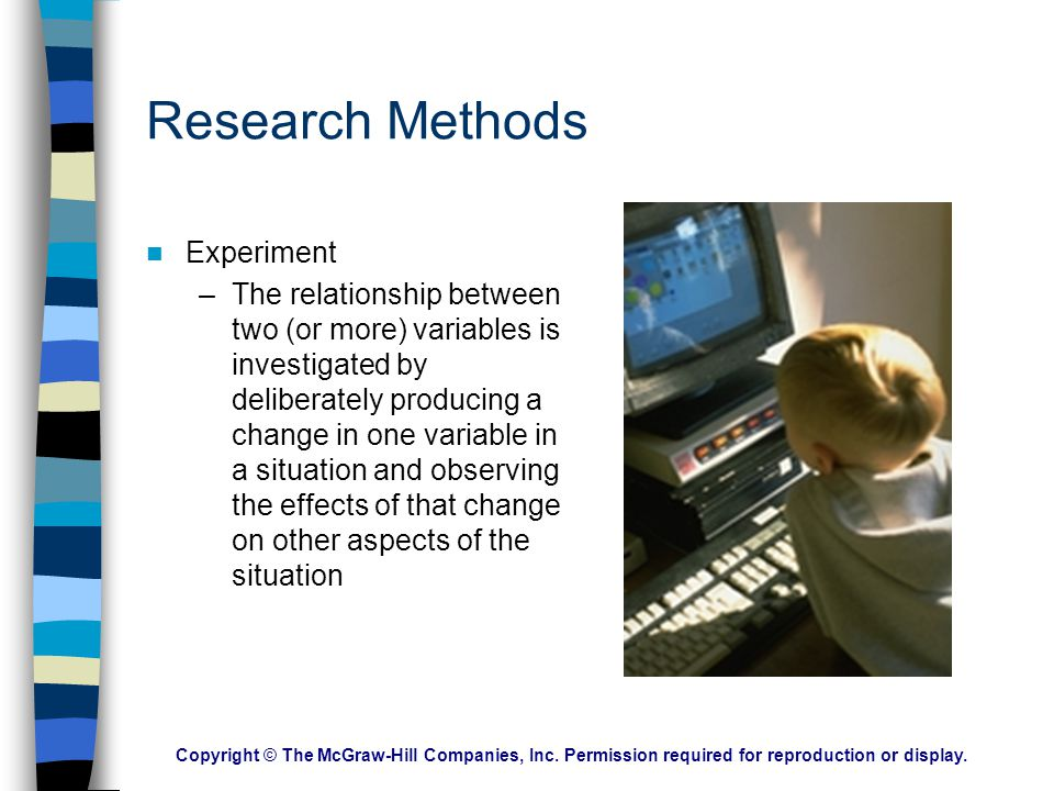 Research Methods Experiment