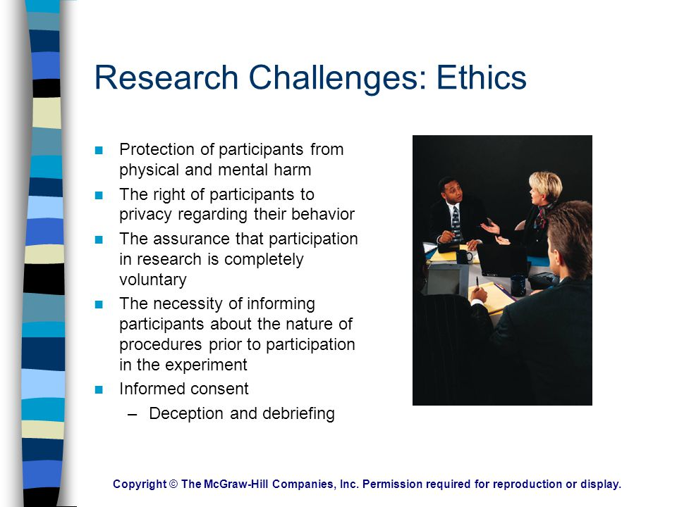 Research Challenges: Ethics
