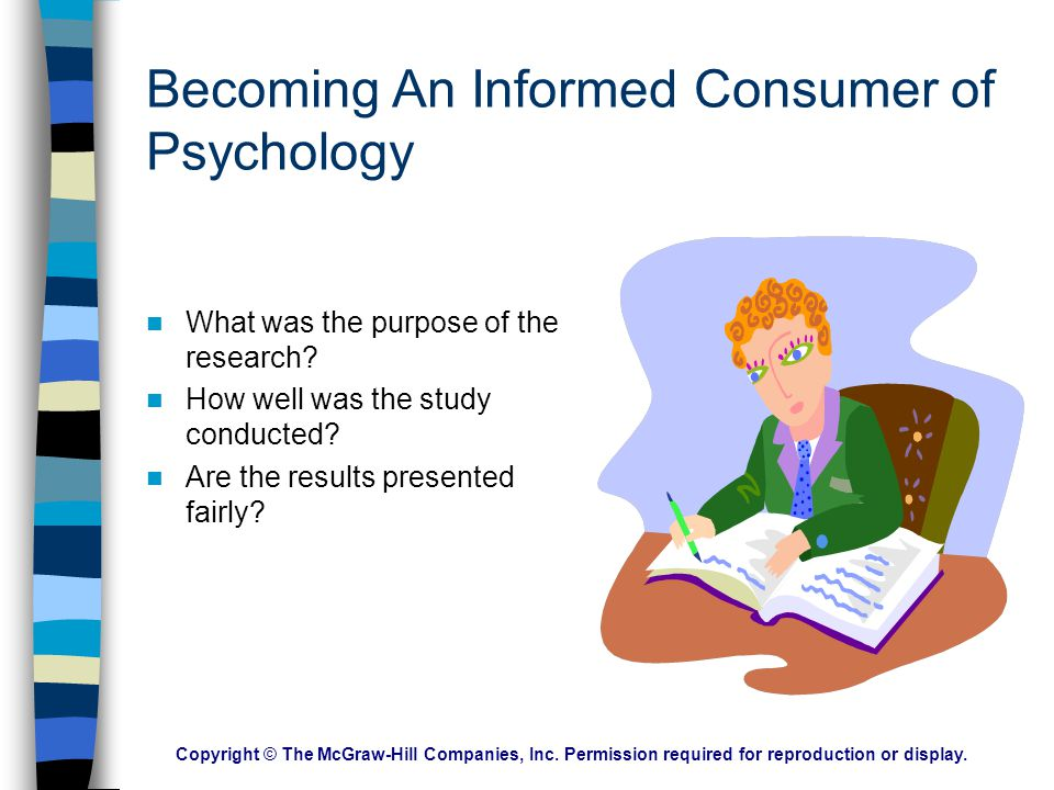 Becoming An Informed Consumer of Psychology