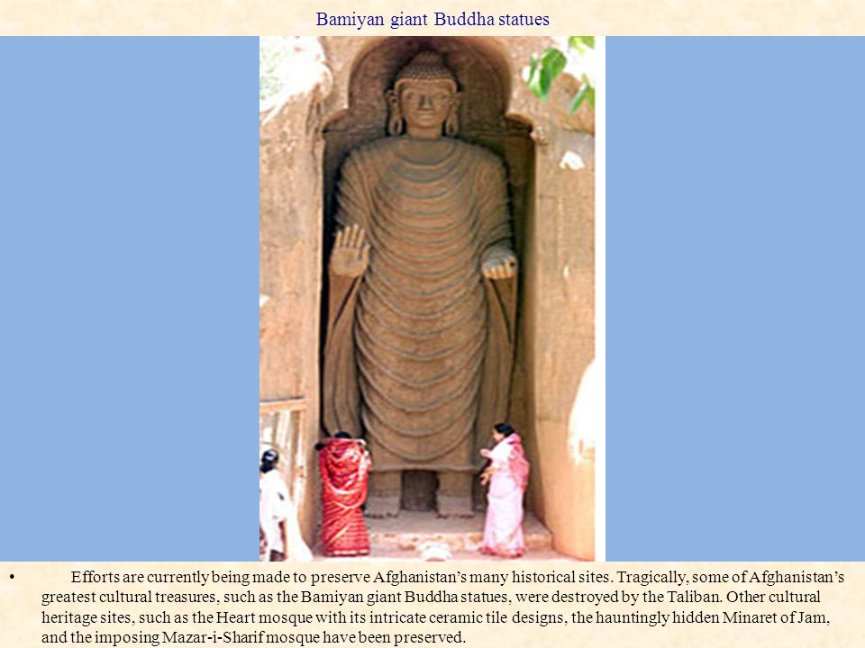 Bamiyan giant Buddha statues