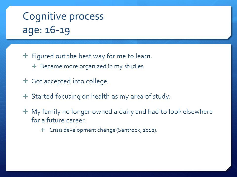 Cognitive process age: 16-19
