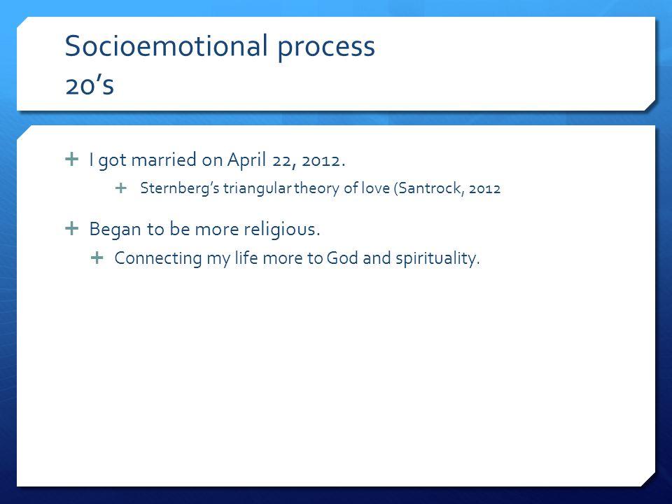 Socioemotional process 20's
