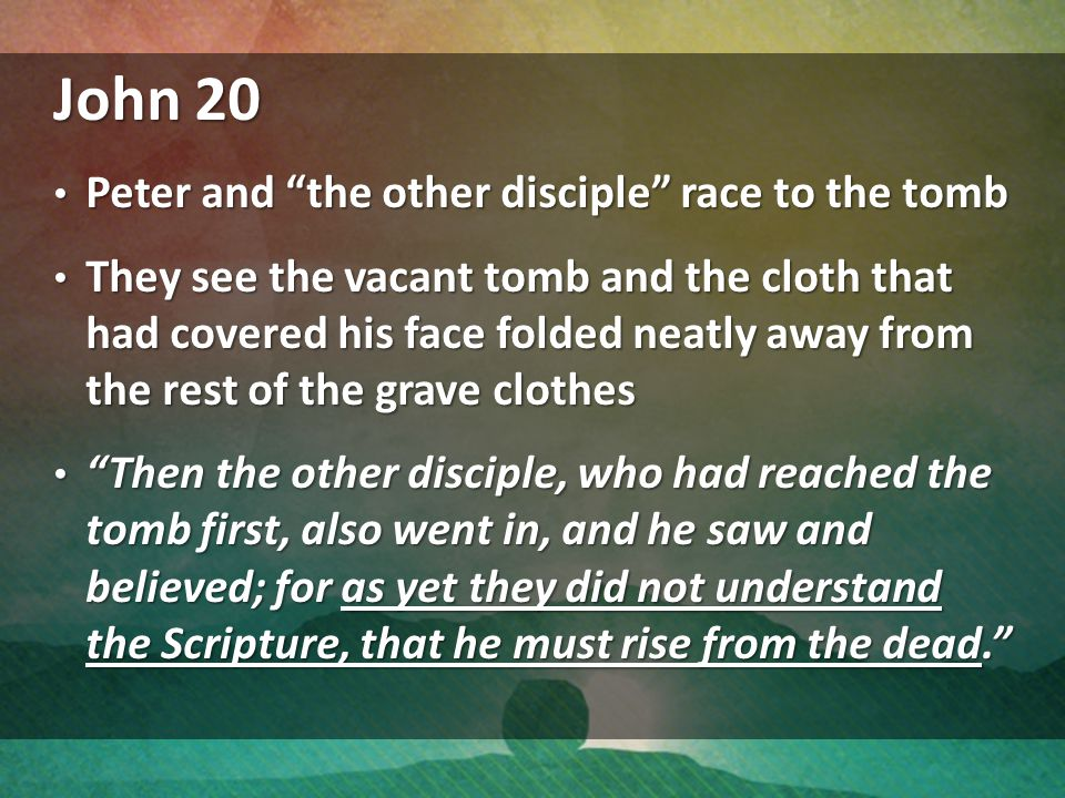 John 20 Peter and the other disciple race to the tomb