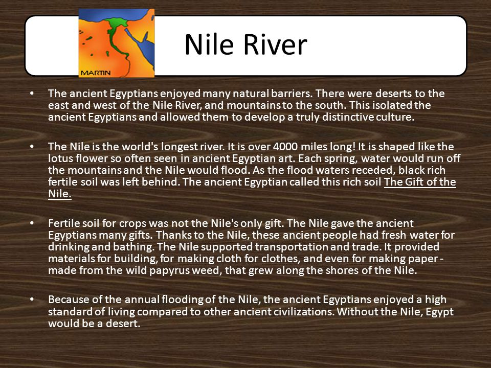 the importance of the nile river in creation of egypt This led to the creation of the pharaohs as gods and ancient egypt's  without  the nile river, the egyptian civilization and pyramids might not.