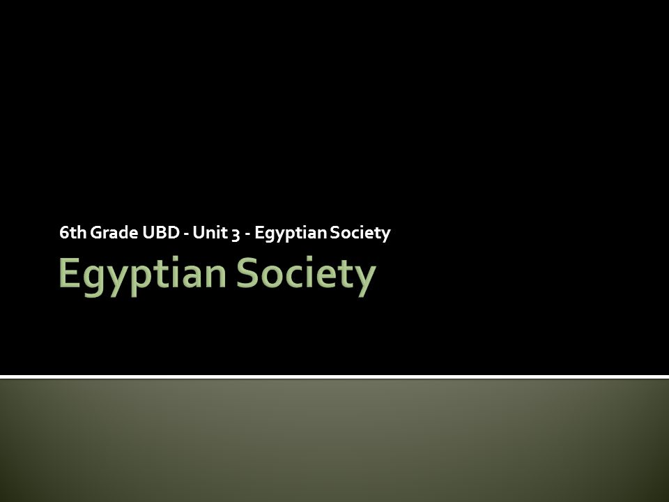 6th Grade UBD - Unit 3 - Egyptian Society