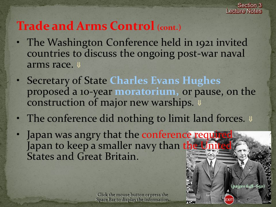 Trade and Arms Control (cont.)