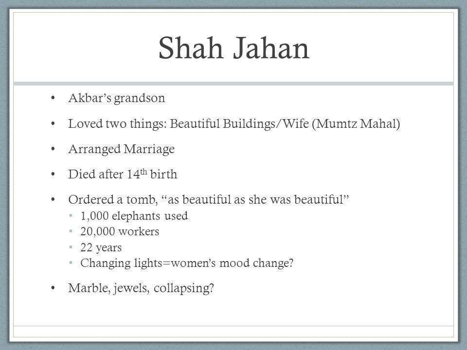 Shah Jahan Akbar's grandson