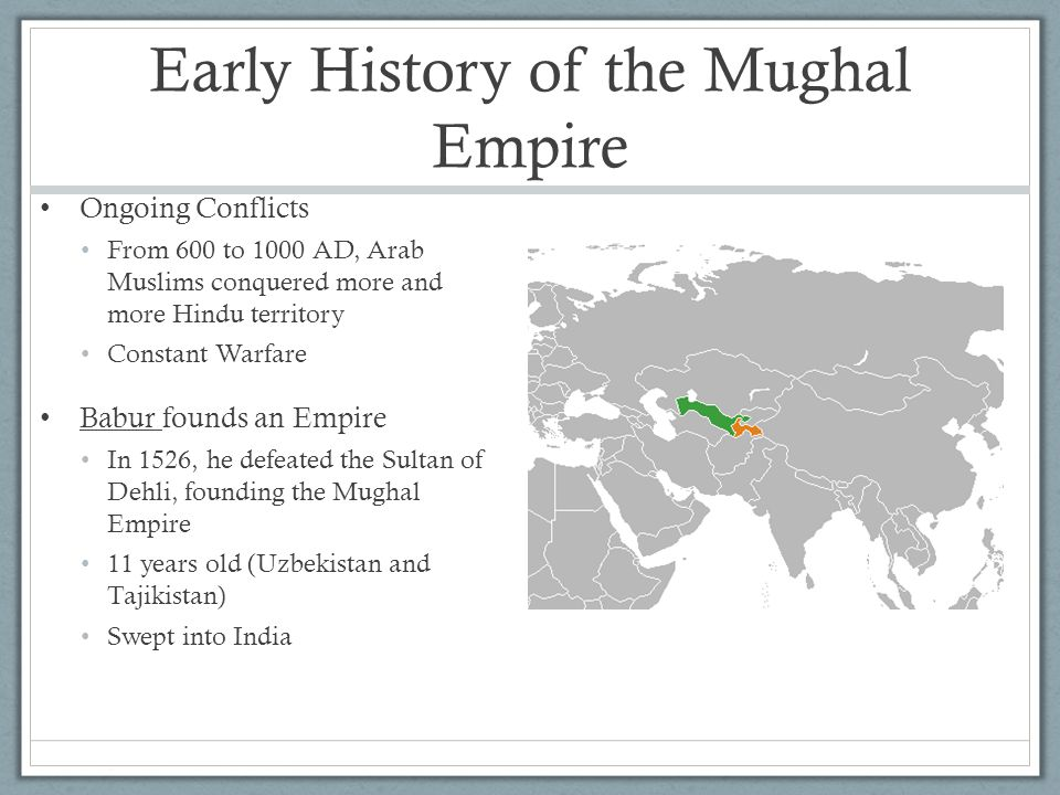 Early History of the Mughal Empire