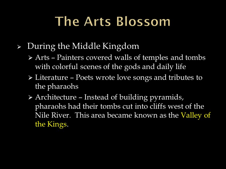 The Arts Blossom During the Middle Kingdom