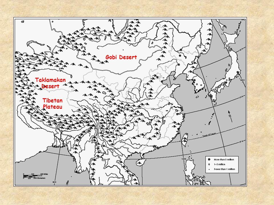 Gobi Desert Taklamakan Desert Tibetan Plateau