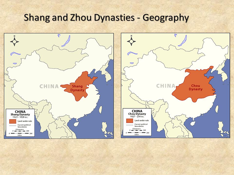 Shang and Zhou Dynasties - Geography