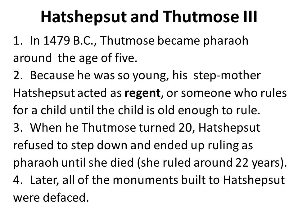 Hatshepsut and Thutmose III