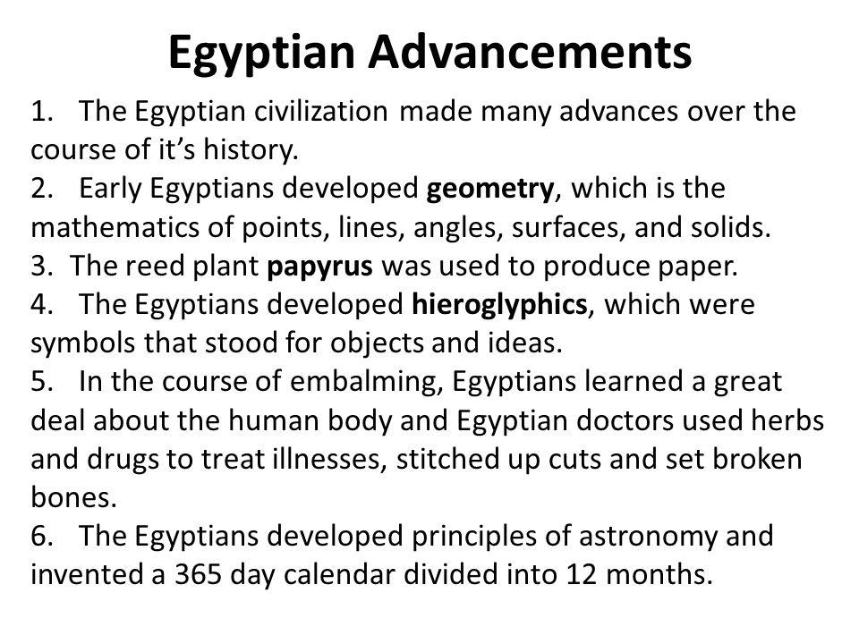 Egyptian Advancements