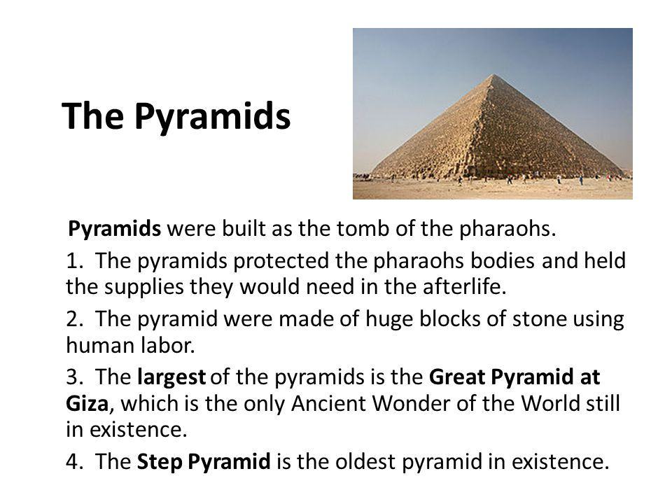 how was pyramids made part as a result of step