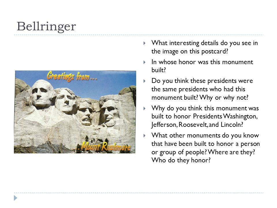 Bellringer What interesting details do you see in the image on this postcard In whose honor was this monument built