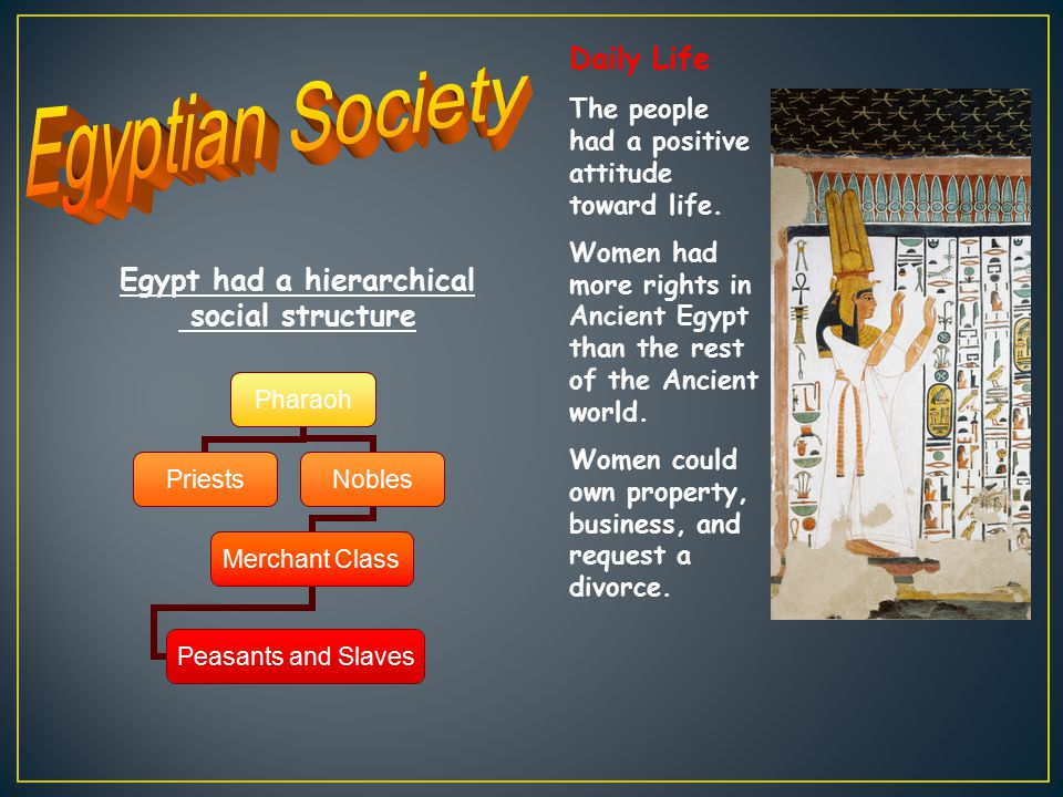 Egypt had a hierarchical
