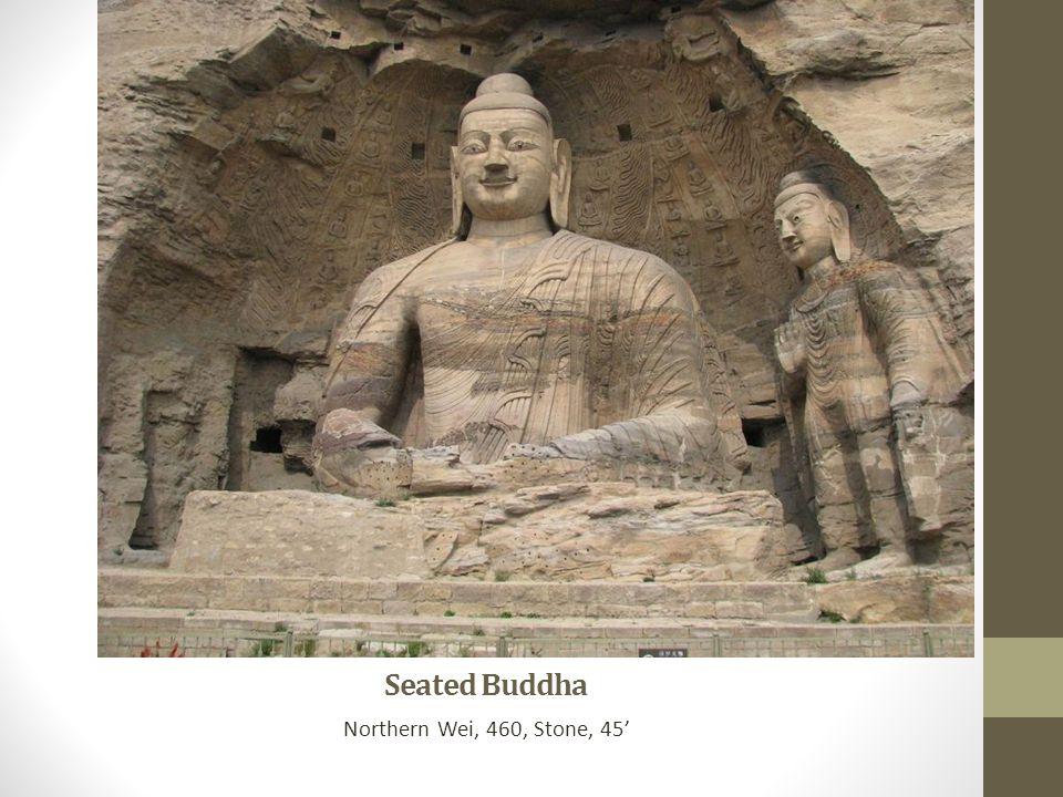 Seated Buddha Northern Wei, 460, Stone, 45'
