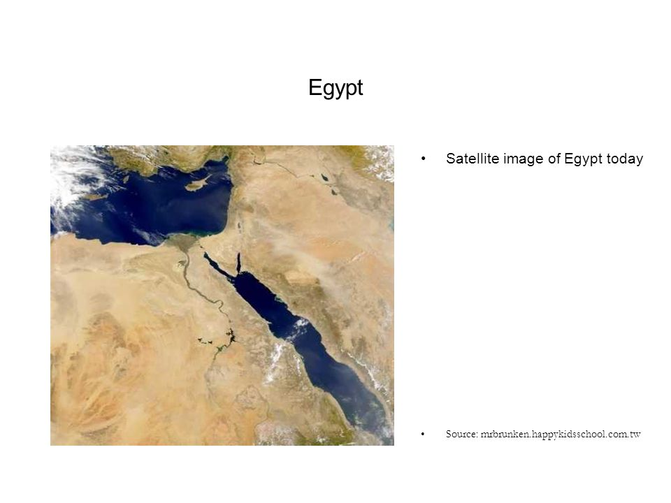 Egypt Satellite image of Egypt today
