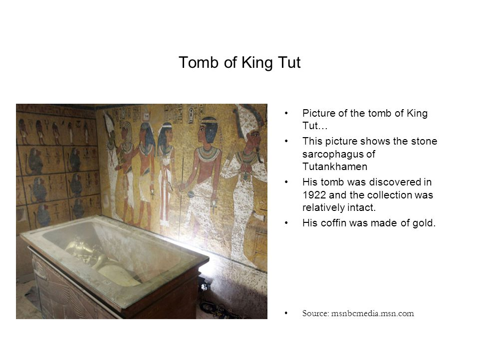 Tomb of King Tut Picture of the tomb of King Tut…